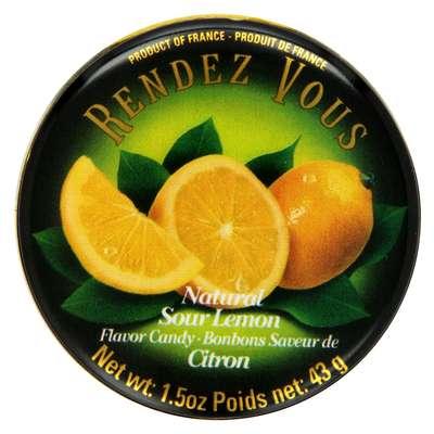 Леденцы Лимон Sour Lemon Rendez Vous 43 гр, фото 2