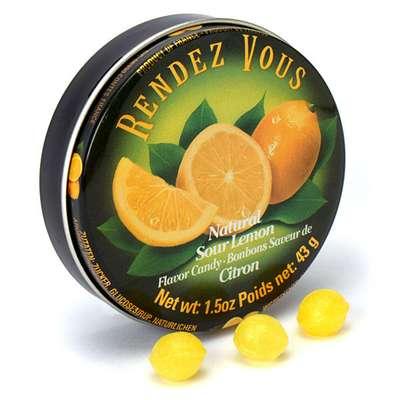 Леденцы Лимон Sour Lemon Rendez Vous 43 гр, фото 3