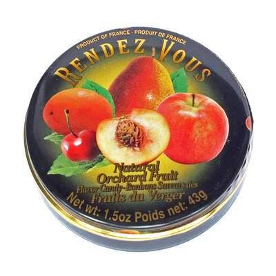 Леденцы Садовые фрукты Orchard Fruit Rendez Vous 43 гр, фото 1