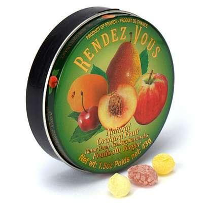 Леденцы Садовые фрукты Orchard Fruit Rendez Vous 43 гр, фото 2