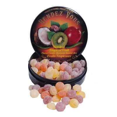 Леденцы Тропические фрукты Tropical Fruit Rendez Vous 43 гр, фото 2