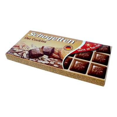 Молочный шоколад с кусочками овсяного печенья Schogetten 100 гр, фото 2