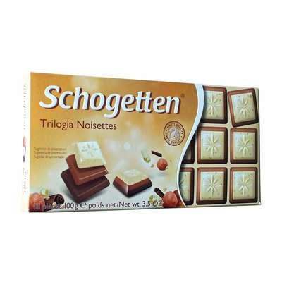 Шоколад три в одном Trilogia Noisettes Schogetten 100 гр, фото 2