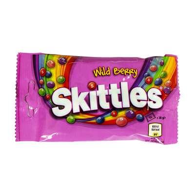 Драже со вкусом диких ягод Wild Berry Skittles 38 гр, фото 3