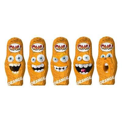 Шоколадные конфеты Взрывная карамель апельсин OMG! Orange Sorini 100 гр, фото 2