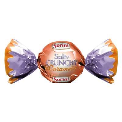 Шоколадные конфеты Крем с соленой карамелью Salty Crunchy Caramel Sorini 100 гр, фото 1