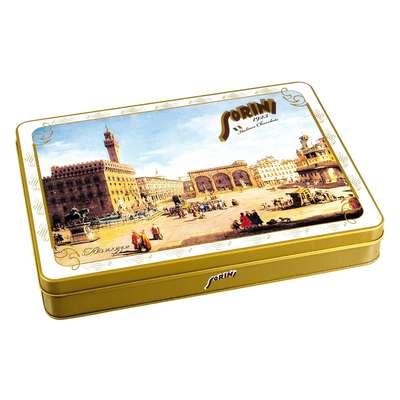 Коробка шоколадных конфет Города Италии Sorini 245 гр жесть, фото 3