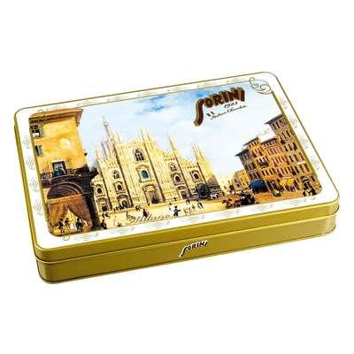 Коробка шоколадных конфет Города Италии Sorini 245 гр жесть, фото 4
