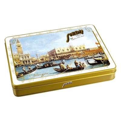 Коробка шоколадных конфет Города Италии Sorini 245 гр жесть, фото 2