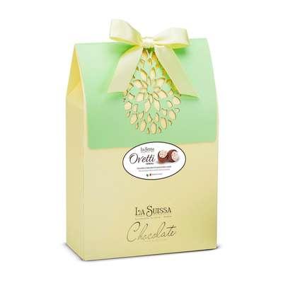 Коробка шоколадных конфет в форме яйца Кремовое Ассорти La Suissa 250 гр, фото 1