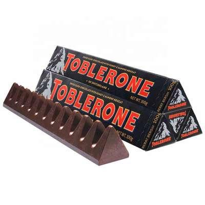 Темный шоколад с мёдом и миндалем Dark Toblerone 100 гр, фото 2