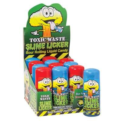 Самая кислая жидкая конфета вкус ежевика Blue Razz Slime Licker Toxic Waste 60 мл, фото 2