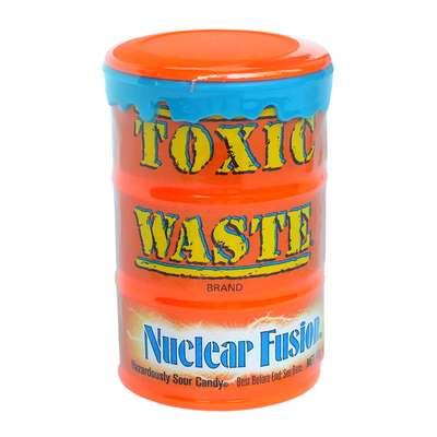 Очень кислые леденцы с двойным вкусом Nuclear Fusion Toxic Waste 42 гр, фото 2