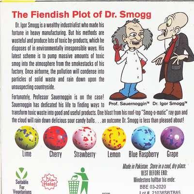 Невероятно кислые драже Smog Ball Toxic Waste 85 гр, фото 2