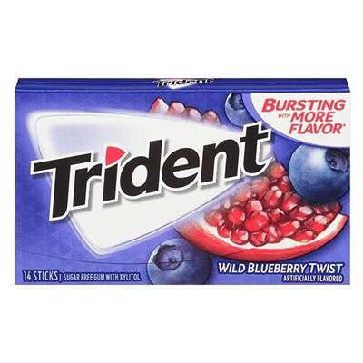 Жевательная резинка Черничный Твист Blueberry twist Trident 28 гр, фото 1