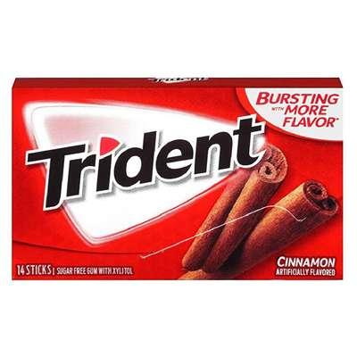 Жевательная резинка с корицей Cinnamon Trident 28 гр, фото 1