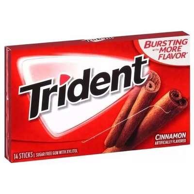 Жевательная резинка с корицей Cinnamon Trident 28 гр, фото 2