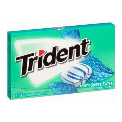 Жевательная резинка Сладкая мята Minty Sweet Twist Trident 28 гр, фото 1