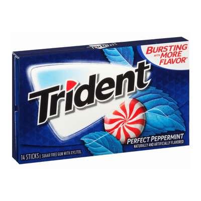 Жевательная резинка Идеальная мята Perfect Peppermint Trident 28 гр, фото 2