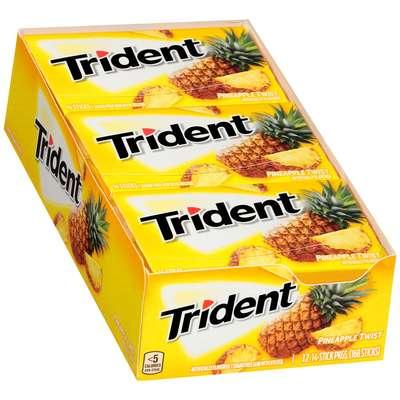 Жевательная резинка Ананасовый твист Pineapple Twist Trident 28 гр, фото 3