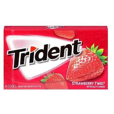 Жевательная резинка Клубничный твист Strawberry Twist Trident 28 гр, фото 1