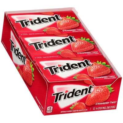 Жевательная резинка Клубничный твист Strawberry Twist Trident 28 гр, фото 2