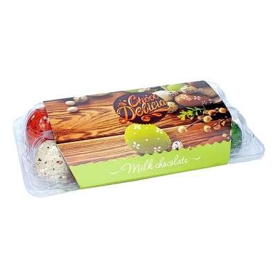 Шоколадные яйца в цветной глазури с начинкой джандуйя Choco Delicia 135 гр, фото 4