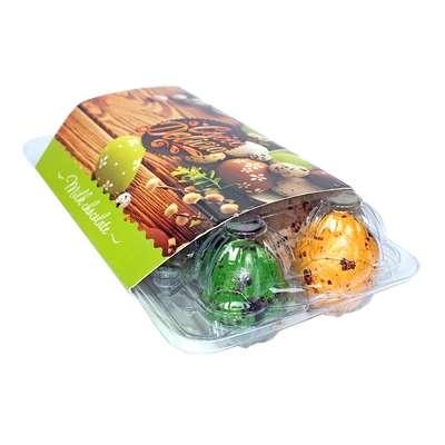 Шоколадные яйца в цветной глазури с начинкой джандуйя Choco Delicia 135 гр, фото 2