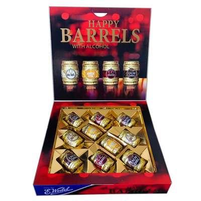 Набор шоколадных конфет с ликером Happy Barrels E.Wedel 200 гр, фото 2