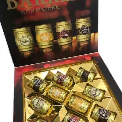 Набор шоколадных конфет с ликером Happy Barrels E.Wedel 200 гр, фото 4