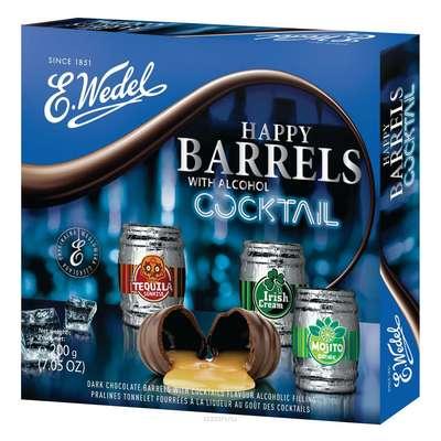 Коробка шоколадных конфет с ликером Happy Barrels Cocktail E.Wedel 200 гр, фото 2