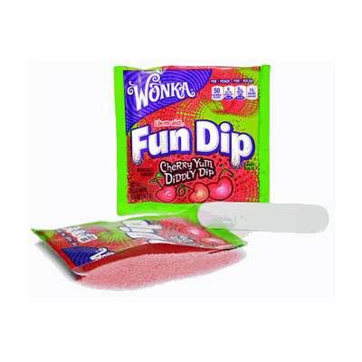 Леденец с шипучим порошком вишня Fun Dip Wonka 12,1 гр, фото 2