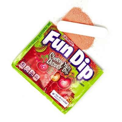 Леденец с шипучим порошком вишня Fun Dip Wonka 12,1 гр, фото 3