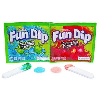 Леденец с шипучим порошком ежевика яблоко Fun Dip Wonka 12,1 гр, фото 4