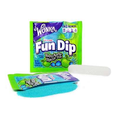 Леденец с шипучим порошком ежевика яблоко Fun Dip Wonka 12,1 гр, фото 2