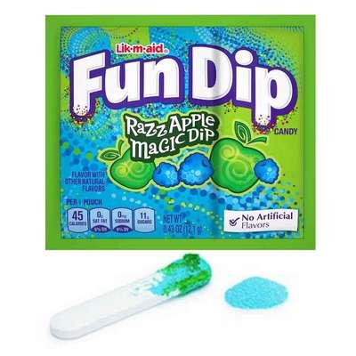 Леденец с шипучим порошком ежевика яблоко Fun Dip Wonka 12,1 гр, фото 3