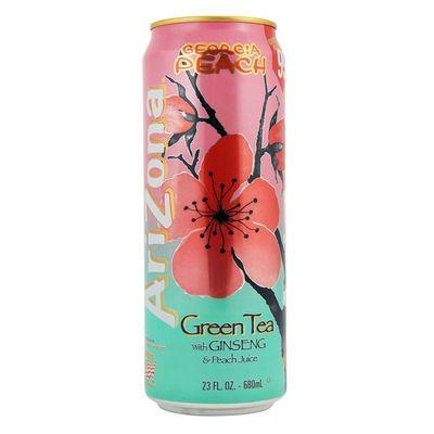 Холодный зеленый чай и персик Georgia Peach Green Tea AriZona 680 мл, фото 1