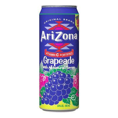 Холодный чай и Виноград Grapeade Fruit Juice Cocktail AriZona 680 мл, фото 1