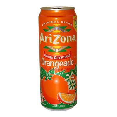 Холодный чай с апельсиновым соком Orangeade AriZona 680 мл, фото 1