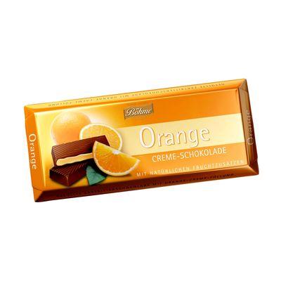 Темный шоколад 62% с апельсиновой начинкой Bohme 100 гр, фото 1