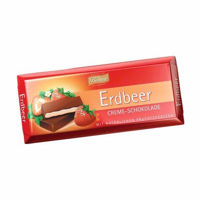 Темный шоколад 62% с клубничной начинкой Bohme 100 гр, фото 1
