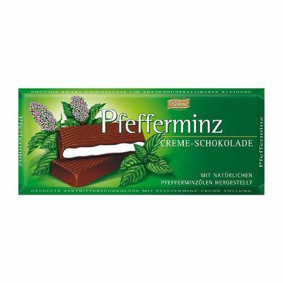 Темный шоколад 62% с мятной начинкой Bohme 100 гр, фото 1