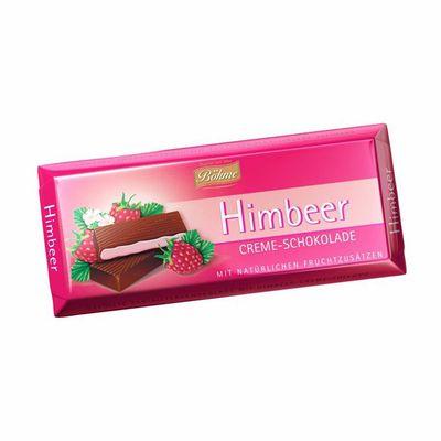 Темный шоколад 62% с малиновой начинкой Bohme 100 гр, фото 1
