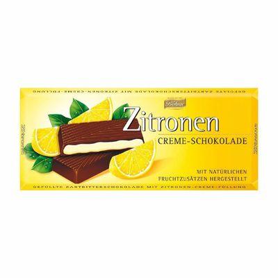 Темный шоколад 62% с лимонной начинкой Bohme 100 гр, фото 1