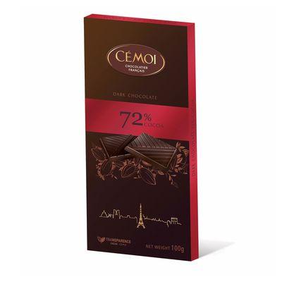 Горький шоколад 72% какао Cemoi 100 гр, фото 1