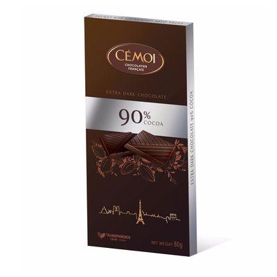 Горький шоколад 90% какао Cemoi 80 гр, фото 1