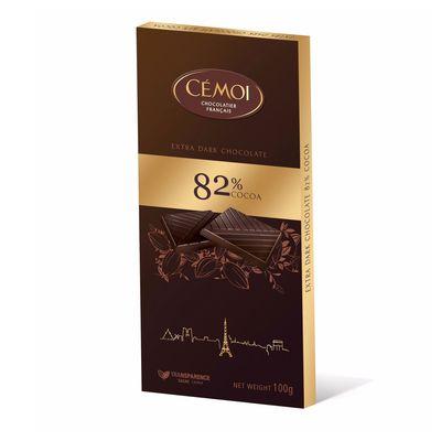 Горький шоколад 82% какао Cemoi 100 гр, фото 1