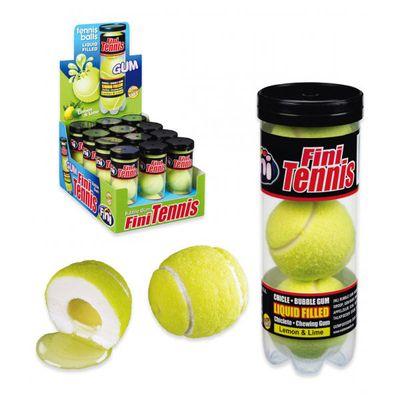 Жвачка Гигант Теннисные мячики с начинкой тубус Fini 15 гр х 3 шт, фото 2