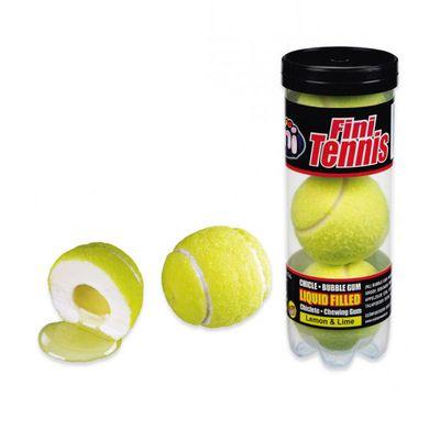 Жвачка Гигант Теннисные мячики с начинкой тубус Fini 15 гр х 3 шт, фото 1
