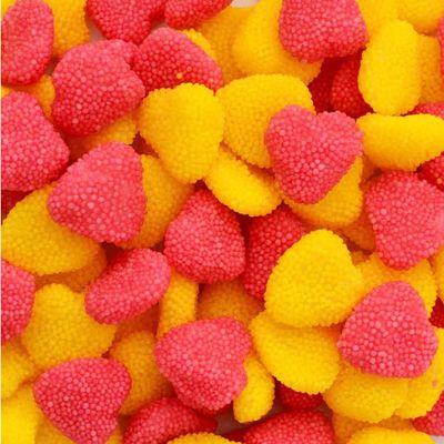Жевательный мармелад Сердечки в розовой и желтой обсыпке Fini 100 гр, фото 1